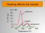 Ou seja, estes dados mostram claramente que a amostra sujeita a um pré-aquecimento tem uma curva diferente da amostra de referência.