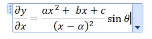 Equação no Word 2007/2010